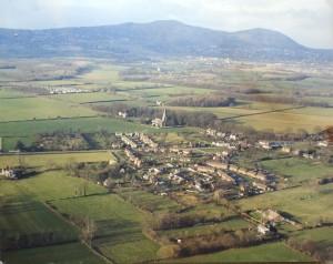 Hanley Swan Aerial View 1970